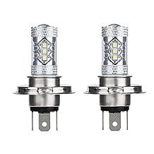 Kimloog Car Light 2 X 80W White H4 9003 HB2 LED Fog Light Bulb 1500LM High Low Beam Headlight