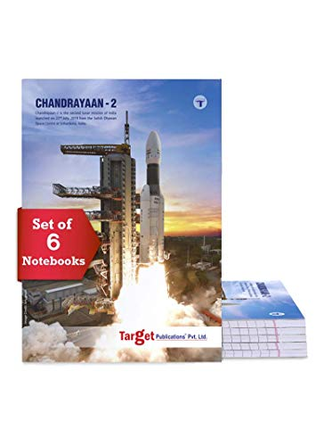 TARGET PUBLICATIONS Long Notebooks Single Line | 164 Ruled Pages | 20 cm x 28 cm Approx | Writing Book with Page Numbers | for School, College and Office Use | Soft Cover | Pack of 6 Books | GSM 58