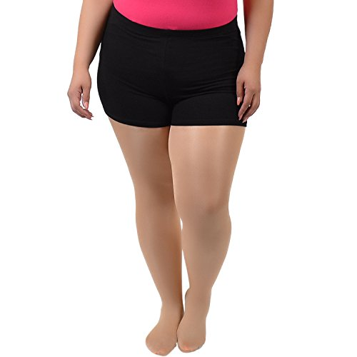 Short Boy Yoga (Stretch is Comfort Women's COTTON Stretch Booty Shorts Black XXX Large)
