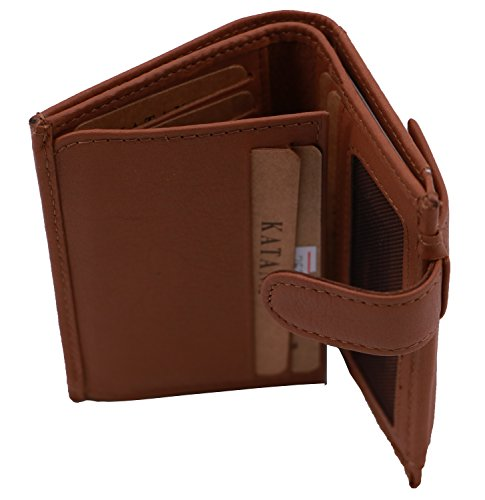 Brown cowhide Wallet Wallet KATANA leather KATANA 753196 n6q1g8za