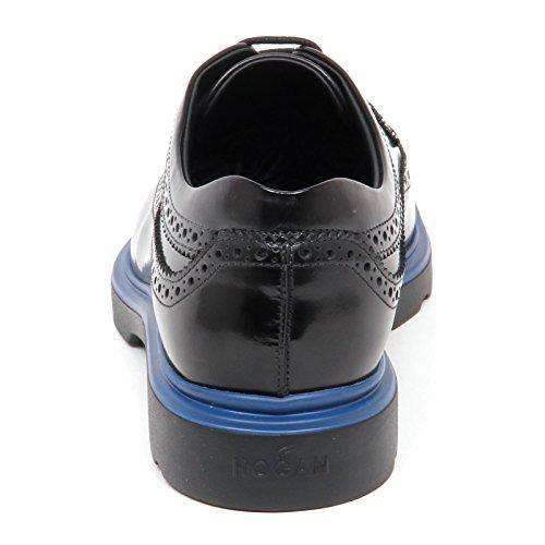 Scarpa Nero Derby Shoe Nero Uomo Route Hogan bucature E3098 Man Inglese New 5B0BqPFx