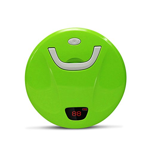 Smart Robot Sweeper, EVERTOP Automatic Home or Office Floor Cleaner with Cliff Detection Sensor for Pet Hair, Dirt, Daily Dust Removal, the First Generation (Green)