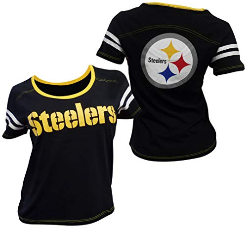 - 5th & Ocean Pittsburgh Steelers Women's Baby Jersey S/S Scoop Neck Large