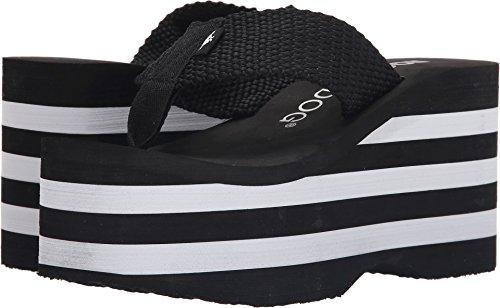 Rocket Dog Women's Bigtop Webbing Multi Wedge Sandal, Black, 8 M (Multi Wedge Sandal)