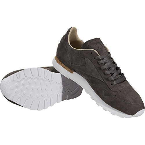 Reebok Heren Cl Leather Lst Fashion Sneakers Havermout / Drijfhout / White D (m) Us Grey