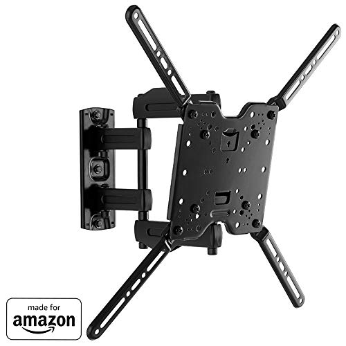 """Sanus Full-Motion TV Wall Mount for 32"""" to 80"""" TVs Extends 14.6"""" & Single Stud Install - Bracket Fits Most LED, LCD, OLED, and Plasma Flat Screen TVs W/VESA Patterns Up to 600 X 400 - OLF15-B1"""