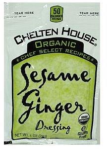 Chelton House Gluten Free Organic Sesame Ginger Vinaigrette 1 oz-Pack of 100 by Chelton House