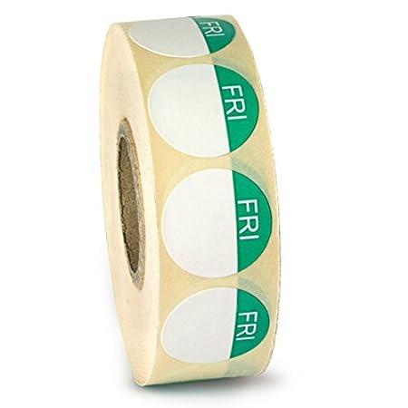Alimentos etiqueta de día puntos viernes – Rollo de 1000 | higiene ...