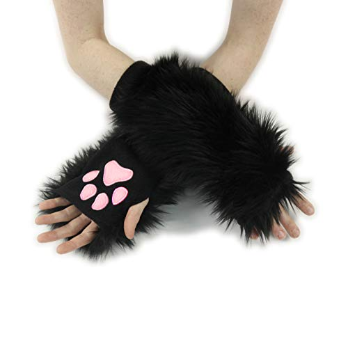 Pawstar Classic Paw Warmers Fingerless Glove Paws Furry Cat Fox Cosplay - -