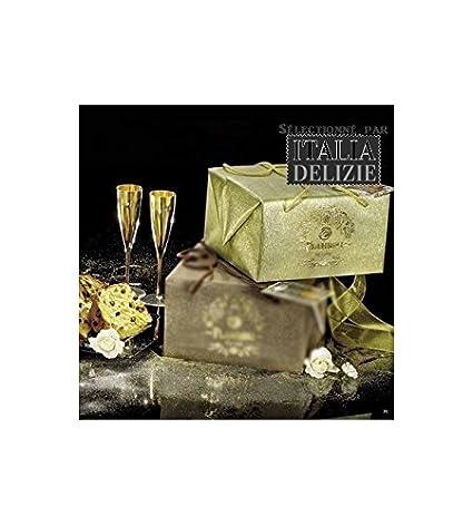 Flamigni - Panettone gourmet con amaretto y chocolate con leche 1kg: Amazon.es: Alimentación y bebidas