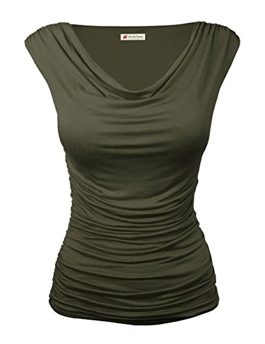 Women's Sleeveless Blouse (Green) - 5