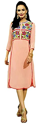 Jayayamala-Pink-tunic-dress-mint-pink-34th-sleeves-romantic-womans-pink-dress