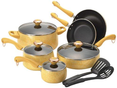 Porcelain 12-Piece Cookware Set, Butter ()