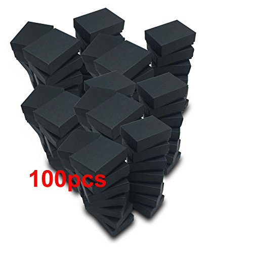 The Display Guys~ Pack of 100 Cotton Filled Cardboard Paper Black Jewelry Box Gift Case - Matte Black (1 7/8x1 1/4x5/8 inches #10) from The Display Guys