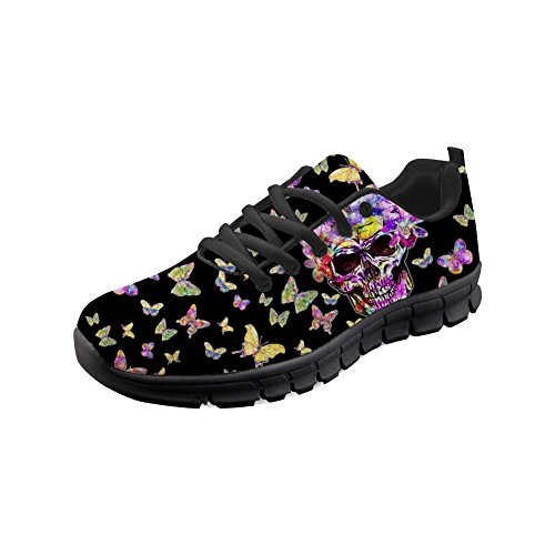 Shoes DESIGNS Sneakers 5 Skull FOR Lightweight Walking Unisex Women U Skull Men Running 4xUqw58R