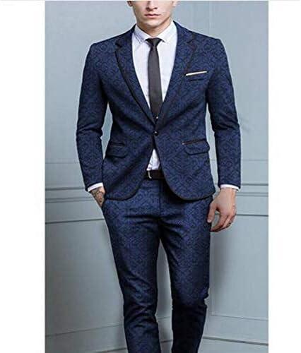 GFRBJK Designs Trajes para Hombre 2 Piezas (Chaqueta + pantalón + ...