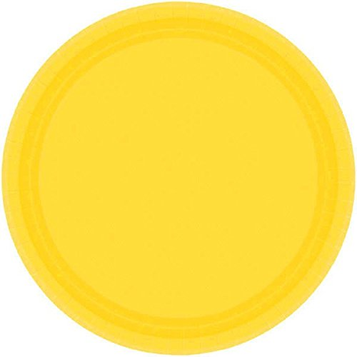 Sunshine Yellow Round Paper Plates | 7