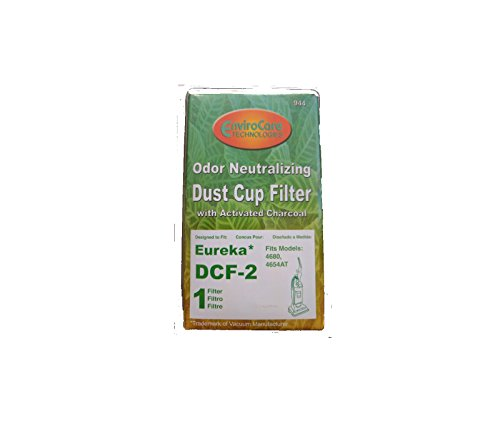 ((1) Eureka DCF-2 Hepa Filtration Pleated Washable Dirt Cup Vacuum Filter 61805, 39345, 39348)