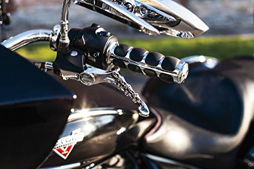 Kuryakyn 6235 Premium ISO Handlebar Grips for Throttle and Clutch: Kawasaki, Suzuki, Victory & Yamaha Motorcycles, Chrome, 1 -