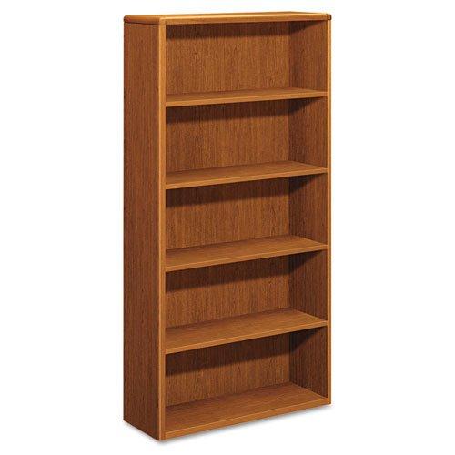(HON COMPANY - 10700 Series Wood Bookcase, Five Shelf, 36w X 13 1/8d X 71h, Bourbon Cherry ( HON10755HH ) ( 10755HH ))