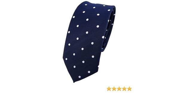Corbata azul oscuro royal blanco lunares TigerTie