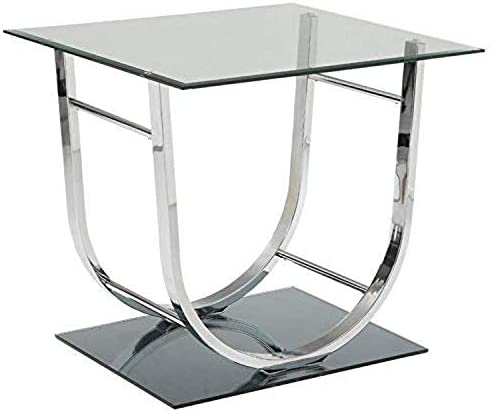 Coaster 704987-CO Glass Top End Table