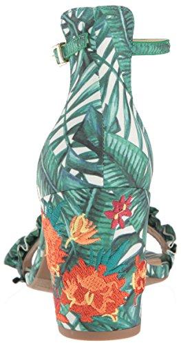 Sangle Femme Soirée Et Avec Sandales de REACTION Ouvert Cole à Kenneth Multi Volant Bout Green wqB1anf