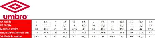 Umbro Fussballschuhe Speciali Cup HG, Swan/White/Red Gr. 39,5