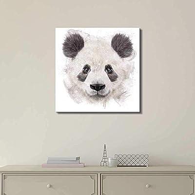 Watercolor Style Panda Head - Canvas Art