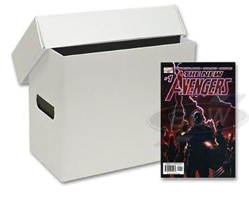 10 Short Plastic Comic Book Storage Boxes - White  sc 1 st  Amazon.com & Amazon.com: 10 Short Plastic Comic Book Storage Boxes - White ... Aboutintivar.Com