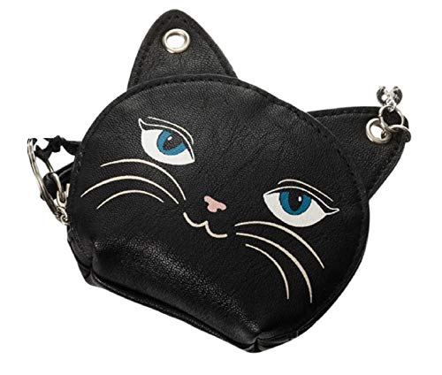 Lost Queen Gothic Emo Punk Meow Feline Black Cat Neko Coin Purse