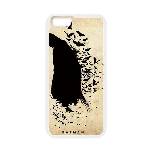 Batman coque iPhone 6 Plus 5.5 Inch Housse Blanc téléphone portable couverture de cas coque EBDOBCKCO10158