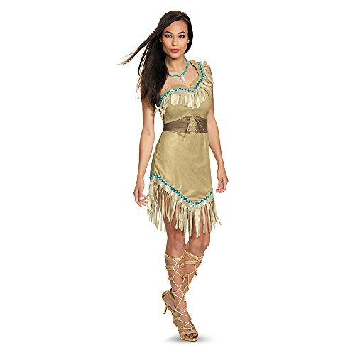 Disguise Women's Pocahontas Deluxe Adult Costume, Multi, (Cool Costumes For Women)