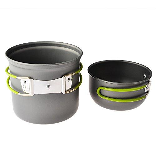 camping pots pans petforu pack of 2 backpacking campfire cookware camping pots and pans set. Black Bedroom Furniture Sets. Home Design Ideas
