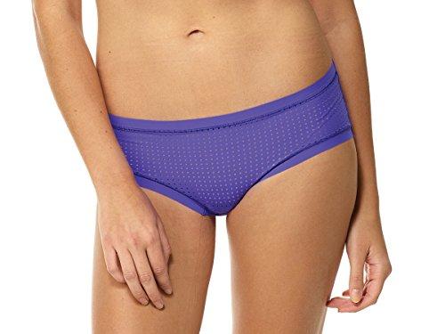 Commando Tiny Thong Panty (Commando Active Perforated Bikini (L/XL, PURPLE POP))