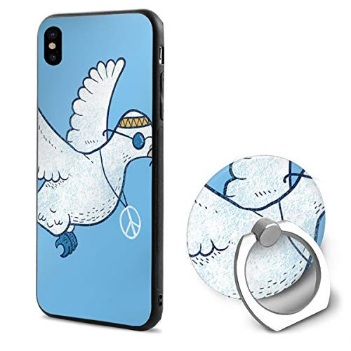 - The Hippie Dove Compatible with iPhone X Case Soft TPU Slim Cover with Ring Holder Stand for iPhone