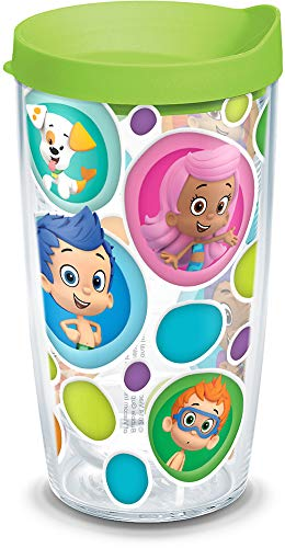 Tervis 1141958 Nickelodeon - Bubble Guppies Tumbler with Wrap and Lime Green Lid 16oz, -