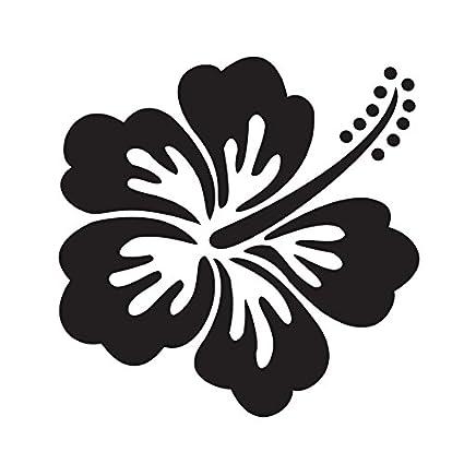 Amazoncom Hawaiian Hibiscus Flower Black Auto Car Room Wall Mural