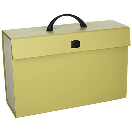 good Smead Portable Expanding File Box, 19 Pockets, Alphabetic (A-Z) and  Subject
