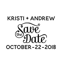 Custom - Personalized Save the date Stamp - 1Z