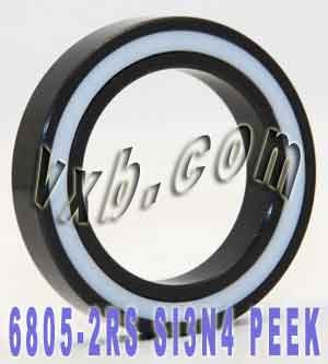 6805-2RS Full Ceramic Sealed Bearing 25x37x7 Si3N4 Ball Bearings VXB Brand (Sealed Ball Vxb Bearings 25x37x7)