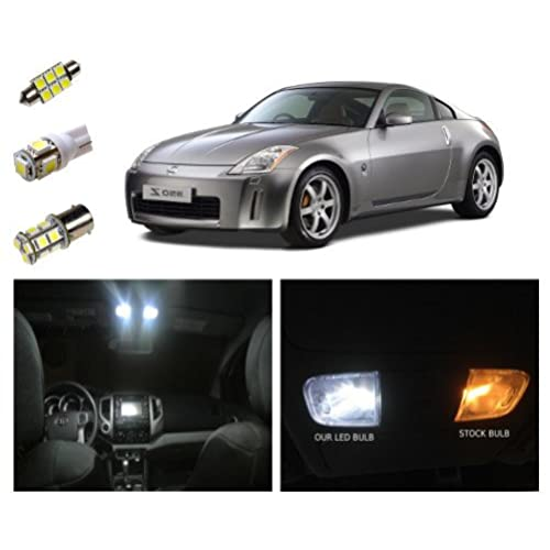 Nissan 350z LED Package Interior + Tag + Reverse Lights (7 Pieces)