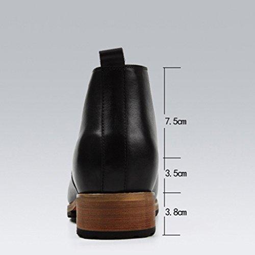 Casual tacco Scarpe UK7 Colore EU42 in Scarpe uomo pelle dimensioni Uomo Marrone Pelle Scarpe con HWF pelle da Invisibile lavoro Nero in da 5 alto in Scarpe aSPdxgwq