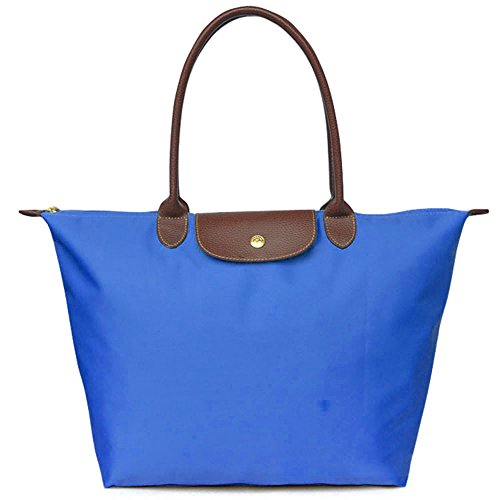 Nylon Shoulder Blue Bag Beach Travel Bekilole Royal Stylish Bags Tote Waterproof Women's 4xx01PX