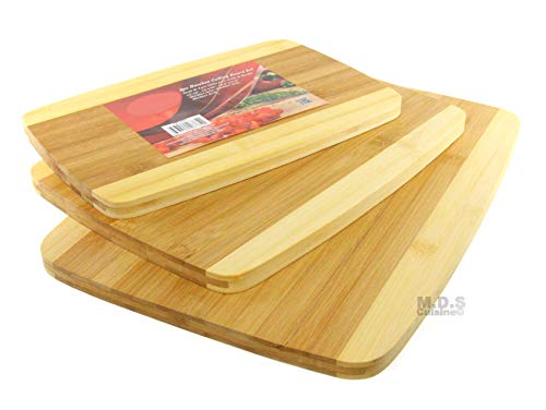 Cutting Board Bamboo 3 Piece Set Kitchen Carving Chopping Thick ()
