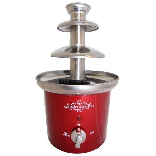 Gourmet Gadgetry Retro Diner Chocolate Fountain With Stainless Steel Tiers Chocolate Fountain RETROCHOCOLATEFOUNTAIN