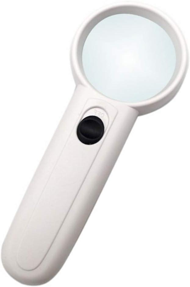 Loupe portable 15x Petite loupe optique / Built-in lumi/ères LED Convient aux personnes /âg/ées observe des objets de petite taille travaille de pr/ès