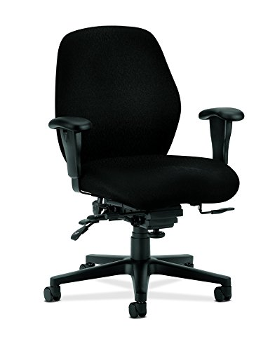 - HON Mid-Back Task Chair, 30-1/2 35 42-1/2-Inch, Black