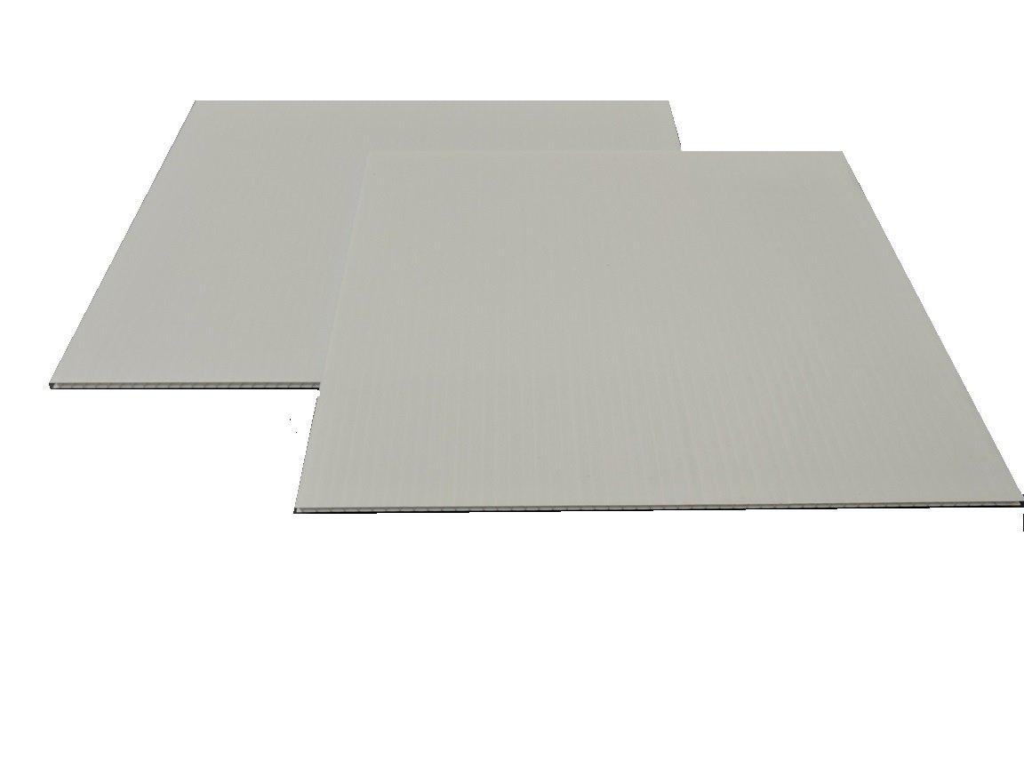 Corrugated Plastic 4mm White Boards - 36''x48'' (10 sheets) by Corrugated Platsic