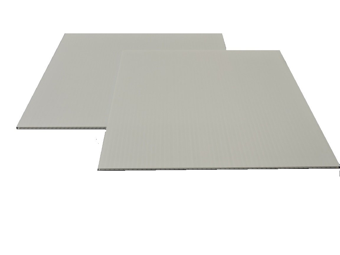 Corrugated Plastic 4mm White Boards - 24''x18'' (10 sheets)